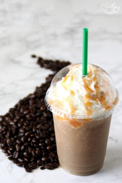 Copycat Salted Caramel Frappuccino Starbucks Drink Recipe
