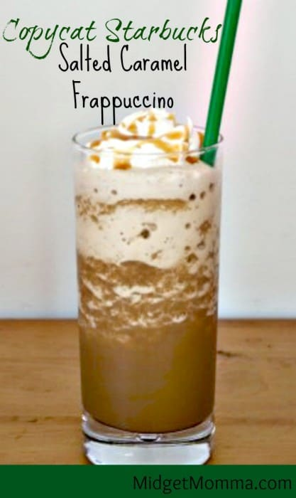 Salted Caramel Frappuccino Starbucks Drink Copycat Salted Caramel Frappuccino Copycat Starbucks Frappuccino Starbucks Salted Caramel easy Starbucks frap