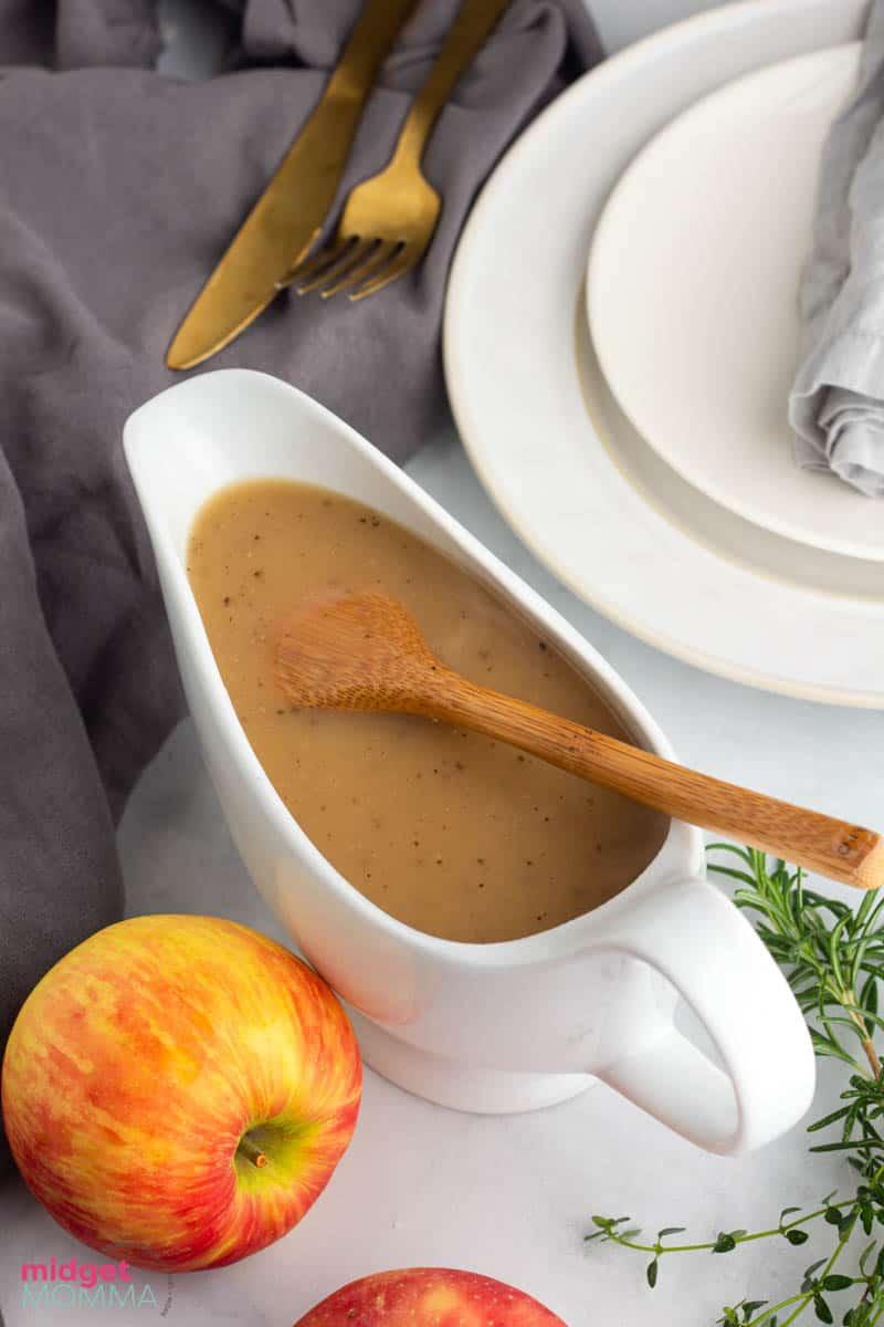 apple cider turkey gravy