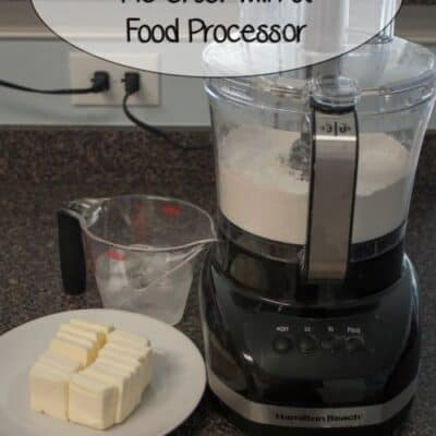 How To Make Pie Crust With A Food Processer. I find the processor leads to a flakier crust. It cuts the time it takes to make a crust in half.