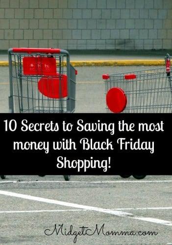Saving Money Black Friday Shopping