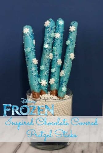 Disney Frozen Inspired Blue Chocolate Cover Pretzels