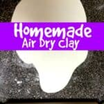 homemade air dry clay