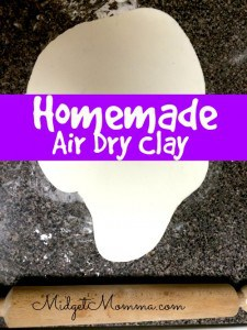 homemade air dry clay