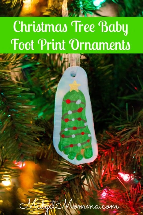 DIY homemade Air Dry Clay Baby Foot Print Ornament