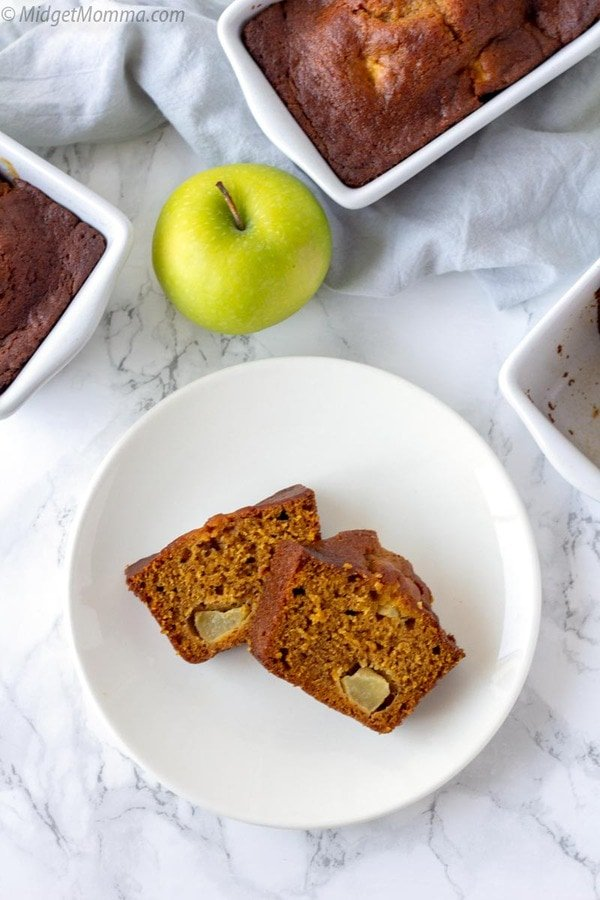"""pumpkin apple bread. Homemade fresh pumpkin apple bread on a plate."