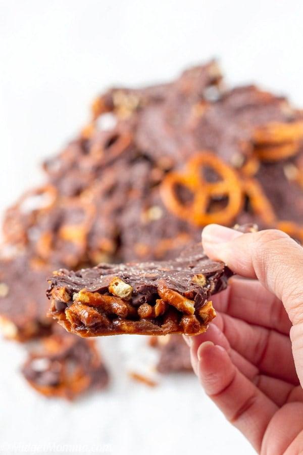 Chocolate & Pretzel Toffee Bark