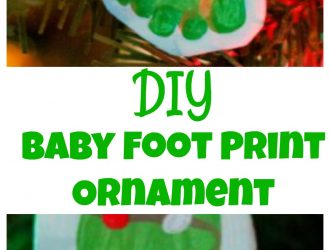 Baby Foot Print Ornament with Homemade Air Dry Clay