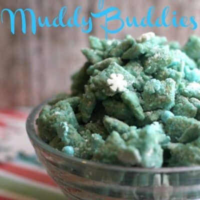 These Frozen Muddy Buddies have your crunch, your creamy, and your sweetness all in one bite with the slightest hint of salty.
