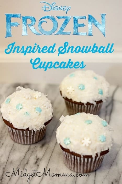 Disney Frozen Inspired Snowball Cupcakes