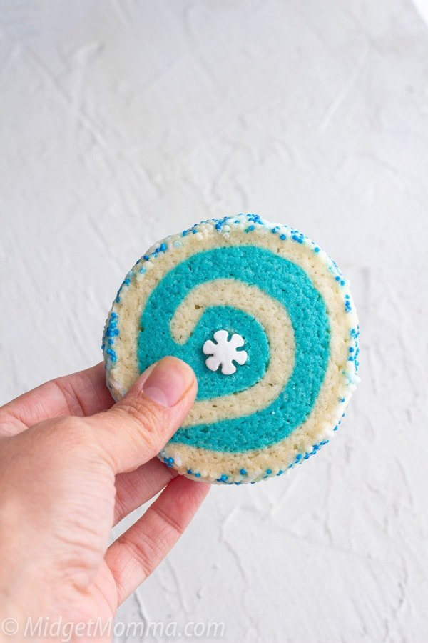 Pinwheel cookie recipe - blue and white pinwheel cookies
