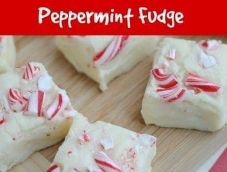 White Chocolate Peppermint Fudge ­is a great holiday treat. It is quick and easy so you can make it for any holiday get together.