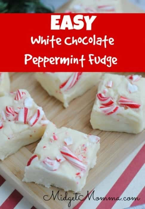 Easy White Chocolate Peppermint Fudge ­