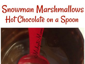 Snowman Marshmallows Hot Chocolate on a Spoon | Hot Chocolate on a Spoon