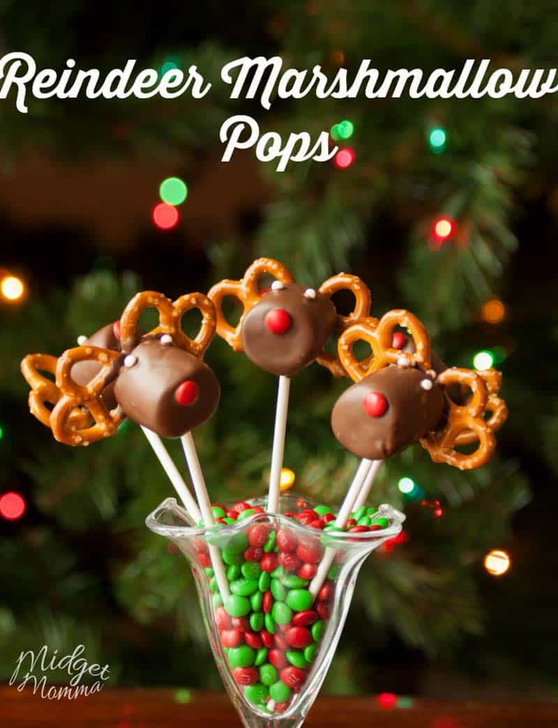 Reindeer Marshmallow Pops are the perfect combination of salty and sweet. They are a great centerpiece to any holiday party.