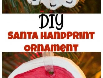 Kids Handprint Santa Ornament