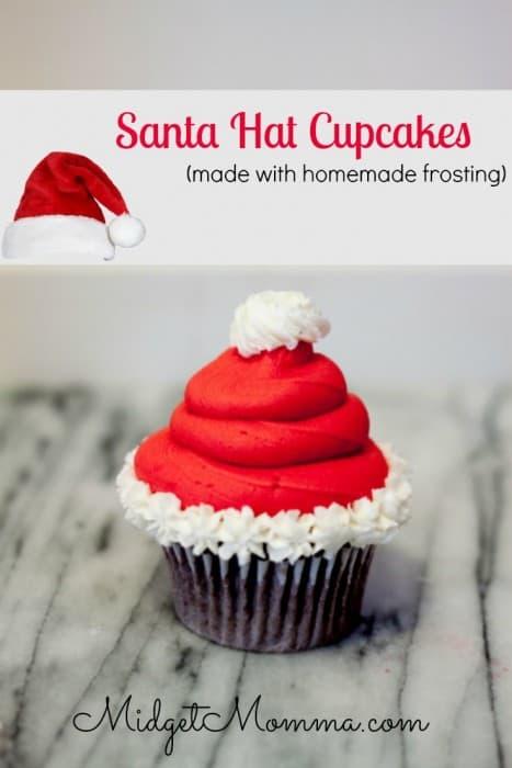 Santa Hat Cupcake Christmas Party Treats