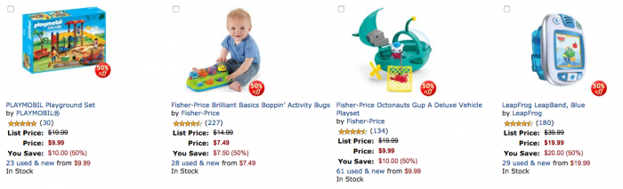 *HOT* 50% off TOP Toys!! Fisher-Price, Playmobile..