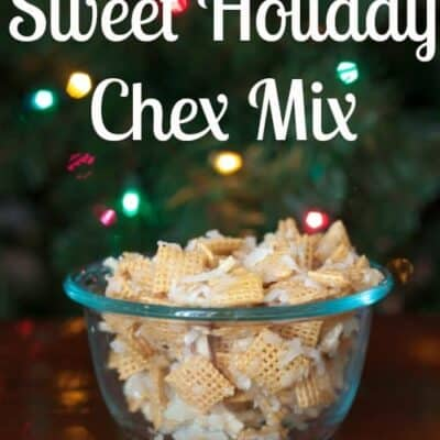 Sweet Holiday Chex Mix is a easy treat to make for any of your holiday parties. It has a great chewy but crunchy texture to it.