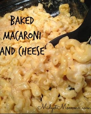 This Baked Macaroni and cheese is a fantastic meal that's easy to adjust to your tastes so here goes! I love it with a sharp cheddar cheese.