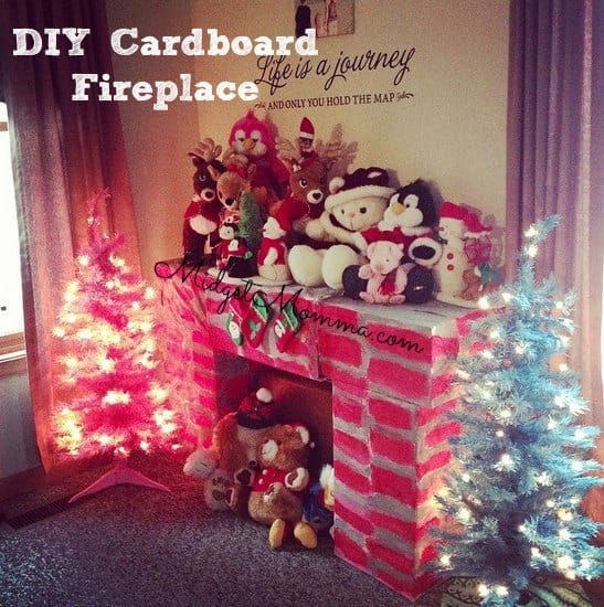 DIY Cardboard Fireplace