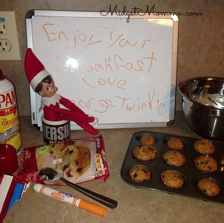 elf on the shelf breakfast ideas easy elf on the shelf idea