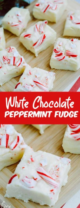 Homemade peppermint fudge is the perfect holiday fudge. This white chocolate peppermint fudge is one that everyone will love.