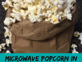 Microwave Popcorn In Brown Bag. Skip buying the store prepackaged stuff and make your own popcorn. It is so EASY with this Microwave Popcorn In Brown Bag!