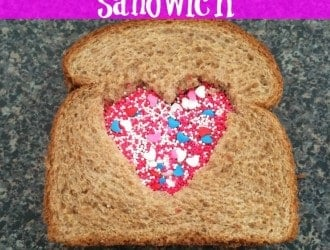Peanut Butter And Love Sandwich | Valentine's day lunch