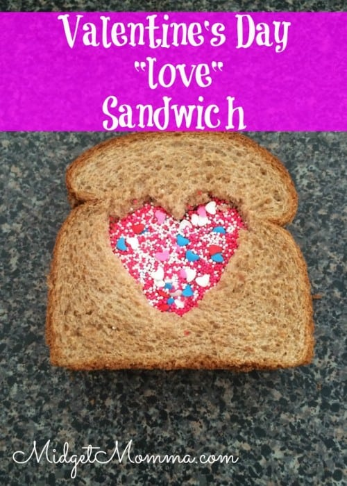 Valentine's Day kids fun sandwich