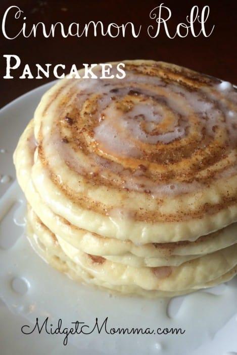 cinnamon roll pancakes recipe