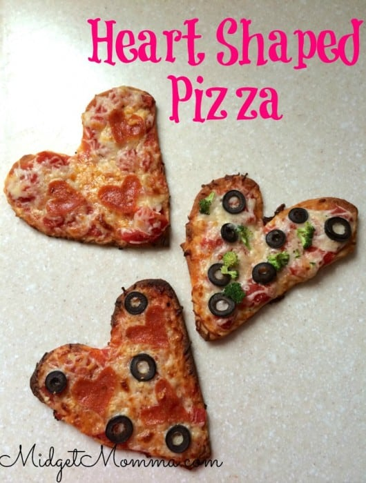You will feel how much love is in these Mini Heart Pizzas as soon as you take your first bite. You can make these pizzas with any toppings you like.
