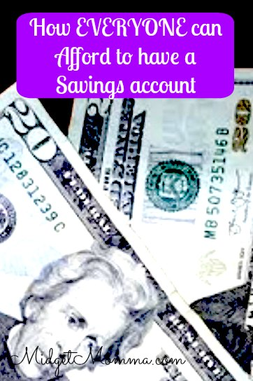 How to afford a savings account