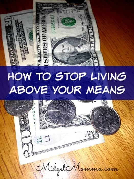 how to stop living above your means