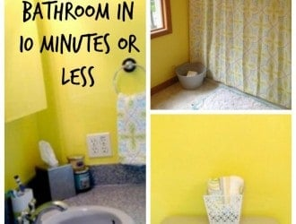 Tips and Tricks to Clean the Bathroom Quickly | Spotlessly Clean bathroom in Under 10 Minutes