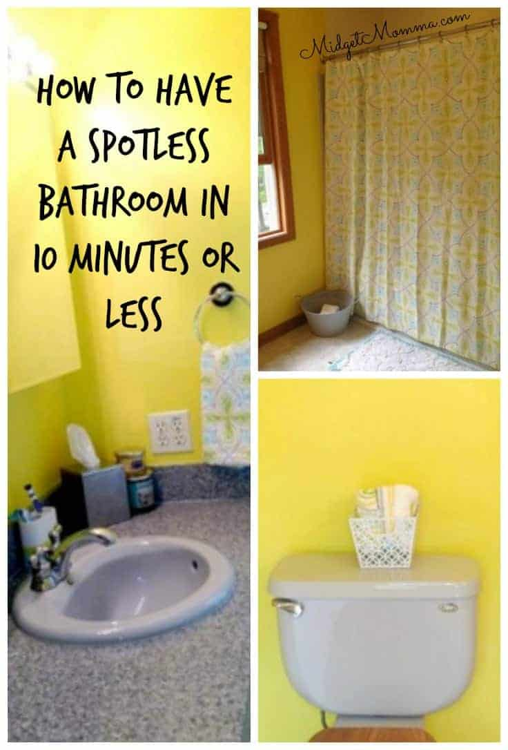 Clean your Bathroom in 10 Minutes or less