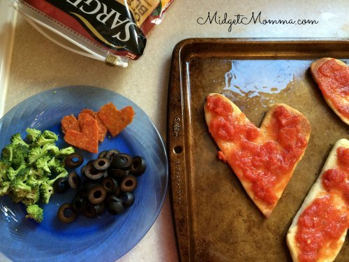 valentine's day kids dinner pizza
