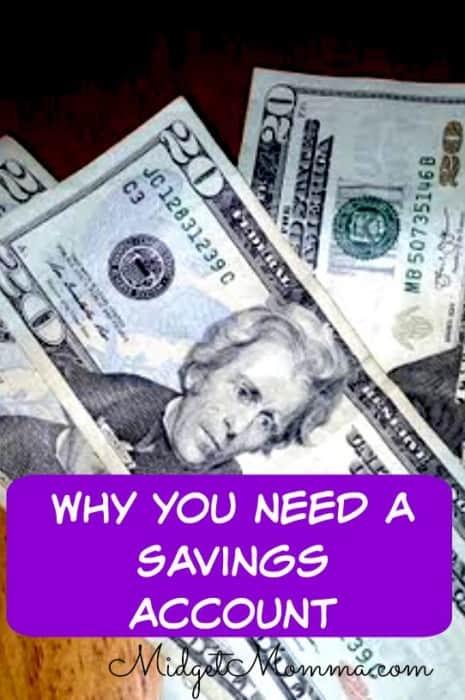 why you need a savings account