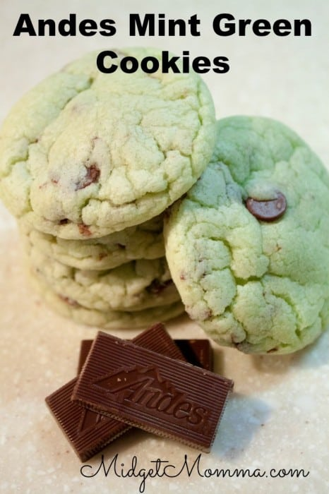 These Andes Mint Green Cookies are like a fun twist on the classic chocolate chip cookie. They are soft and chewy with a yummy mint taste.