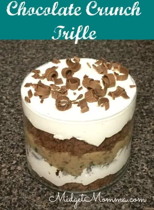 This Chocolate Crunch Trifle is a super easy desert that you can even have your kids help you make. Its full of yummy chocolate.