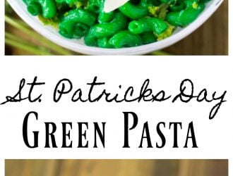 Green St. Patricks Day Green Pasta