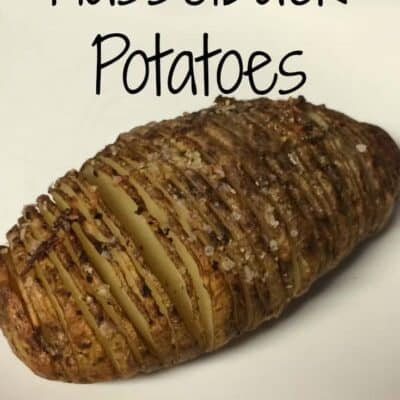 Hasselback potatoes. Easy to make fun twist on baked potatoes. These Hasselback potatoes are a perfect side dish to many dinner recipes.
