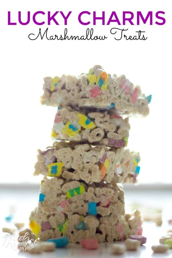 Forget your same old rice crispy treat try out these Lucky Charm Marshmallow Treats. They had a cruncher texture with a sweeter taste.