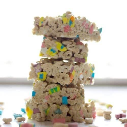 Lucky Charm Marshmallow Treats recipe