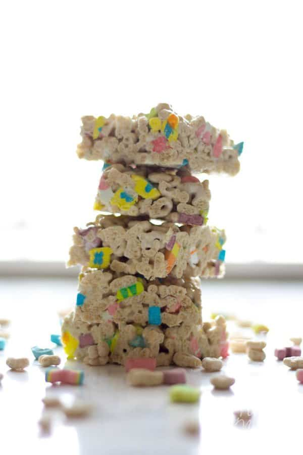 Lucky Charm Marshmallow Treats recipe