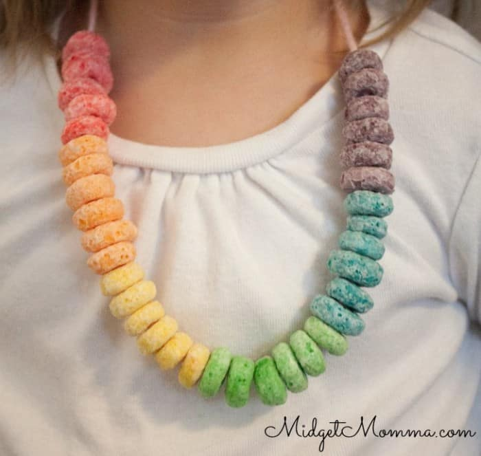 Rainbow Cereal Necklace