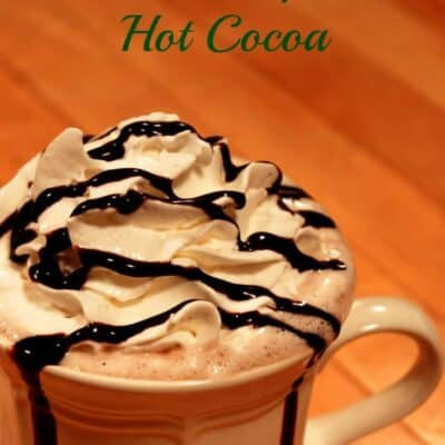 This Homemade Hot Chocolate taste so much like Starbucks hot chocolate. It is so rich and creamy. Don't forget to top it off with some whipped cream.