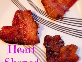 Heart Shaped Bacon | Valentine's Day Menu Ideas