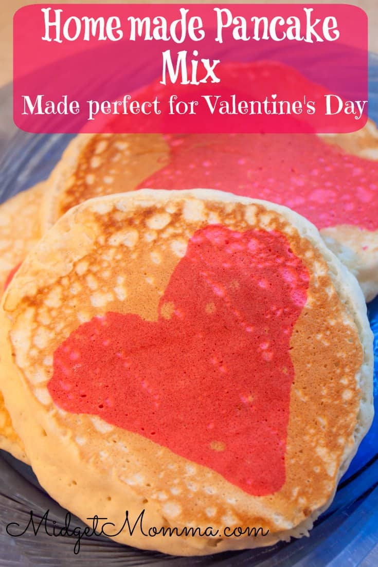 Valentineu0027s Day Pancakes. This Homemade Pancake Mix Makes Pancakes That Are  Light And Fluffy. With Just A Little