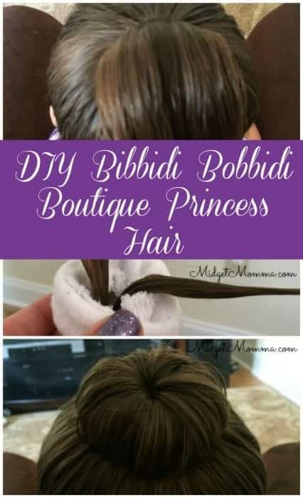 DIY Bibbidi Bobbidi Boutique Princess Hair